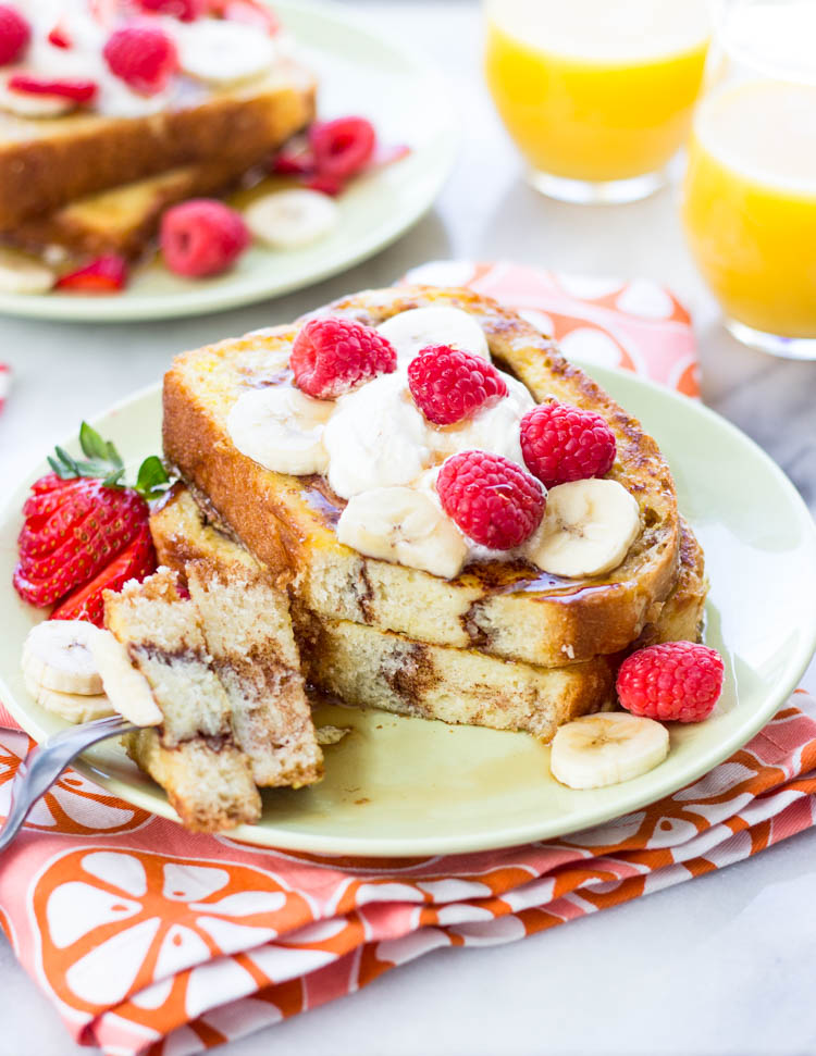 Cinnamon Swirl French Toast | Gimme Delicious