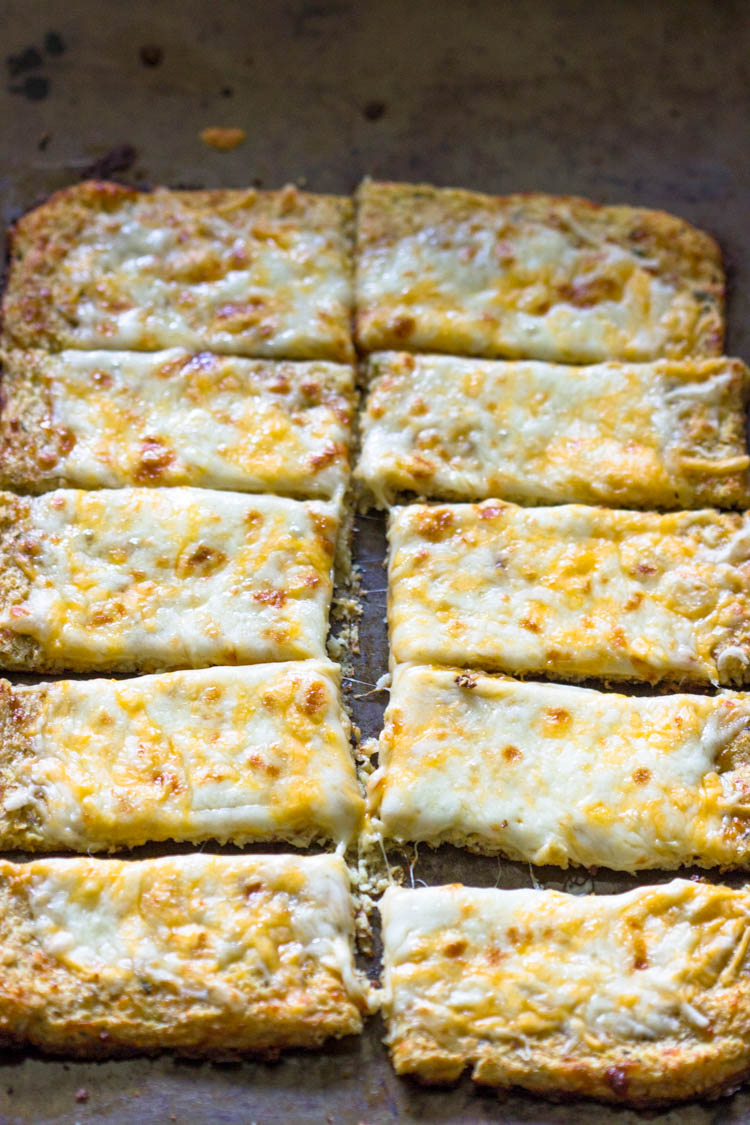 Low-Carb Cauliflower Crust Bread Sticks