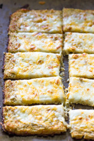 Easy Low-Carb, Low-fat Cauliflower Crust Breadsticks
