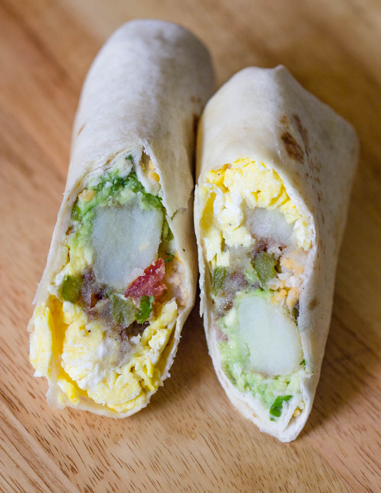 Easy Make Ahead Breakfast Burritos