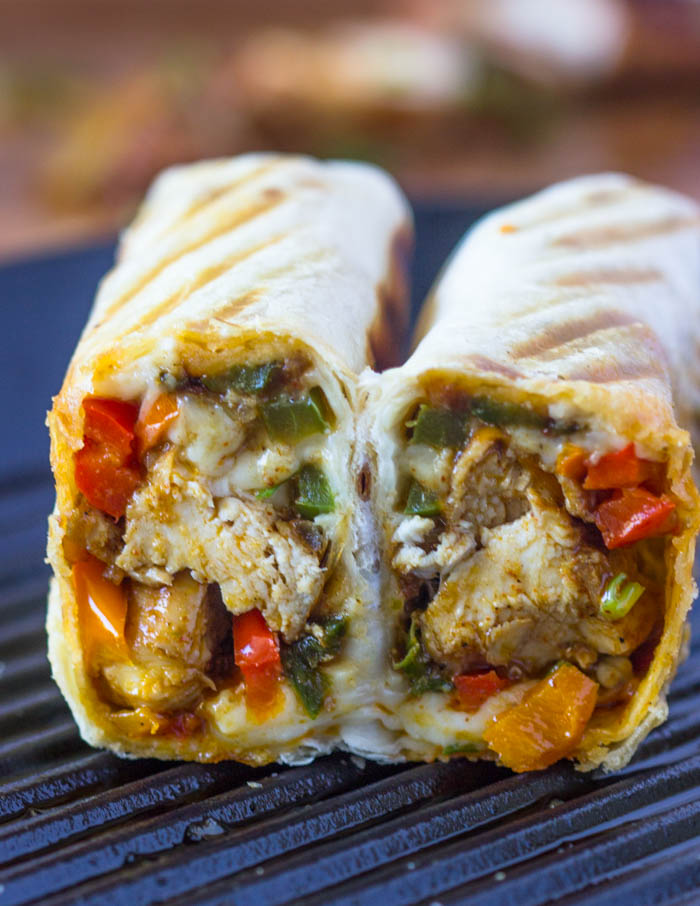 Crispy Fajita Chicken Wraps