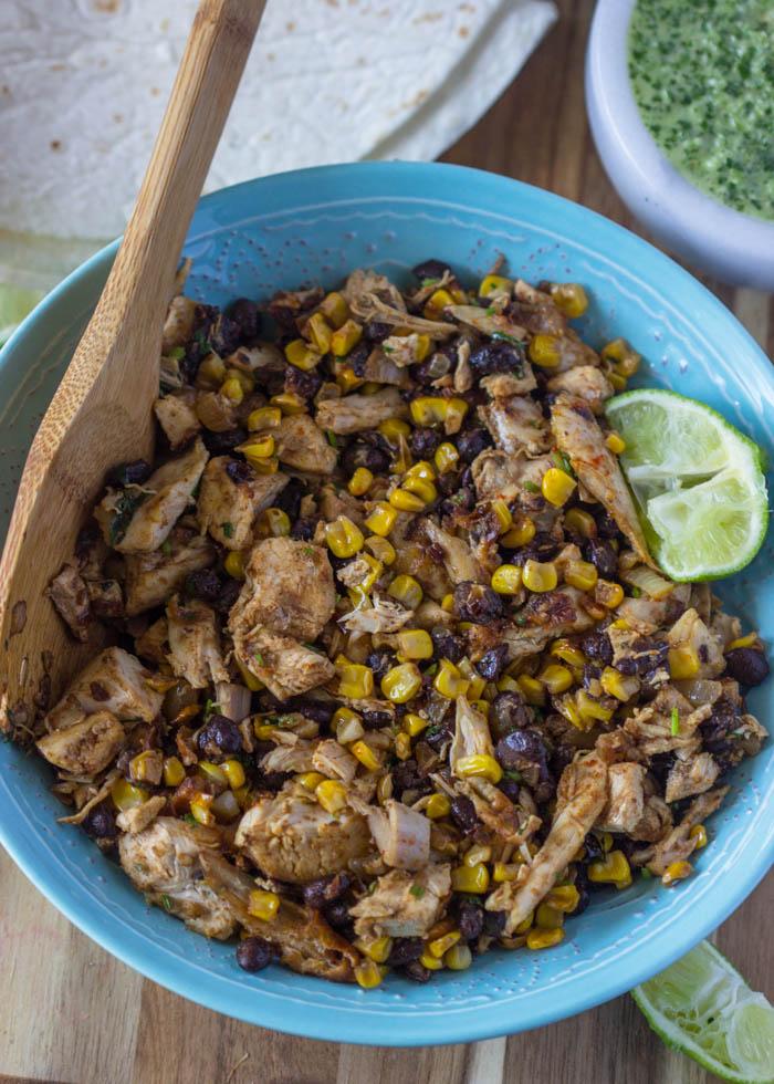 Crispy Fiesta Chicken Burrito Wraps
