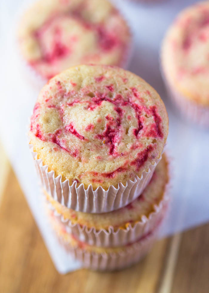 Fresh Strawberry Swirl Cupcakes with Strawberry Buttercream
