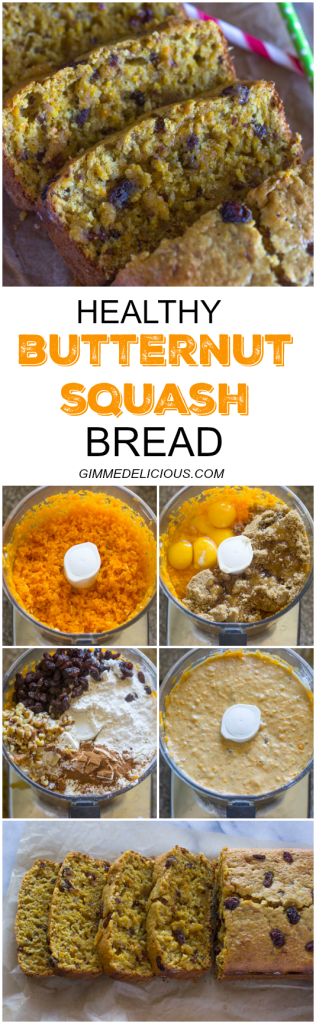 Healthier Butternut Squash Bread #FALL #RECIPES #FOOD #HEALTHY