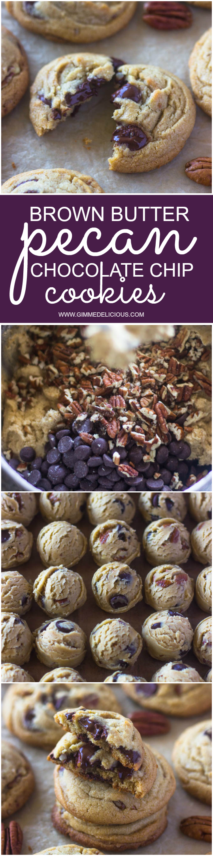 Brown Butter Pecan Chocolate Chip Cookies