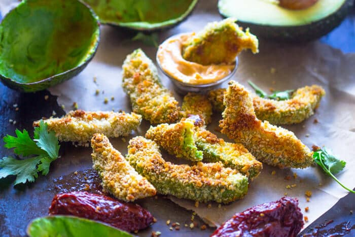 Crispy Baked Avocado Fries Amp Chipotle Dipping Sauce