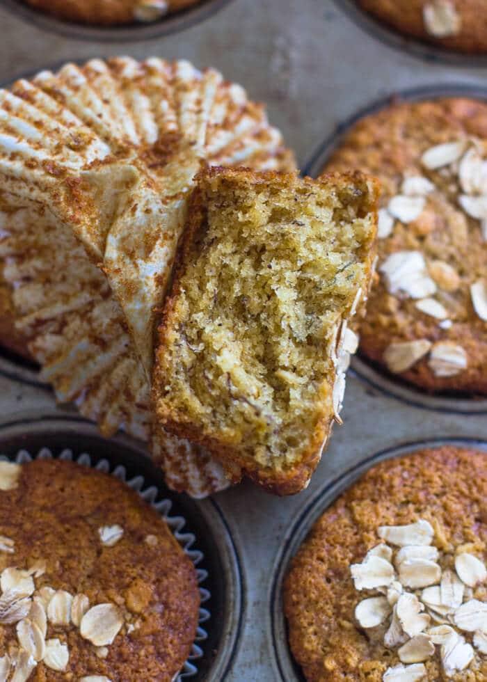 Healthy Banana Oatmeal Muffins