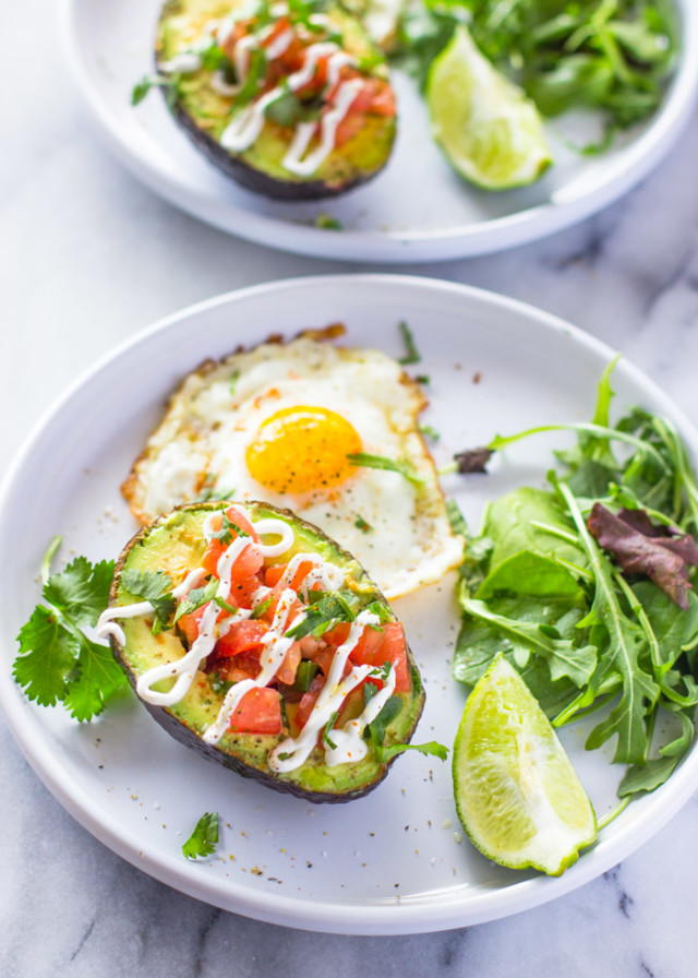 Weight Loss Salsa Stuffed Avocado & Eggs Breakfast (Paleo