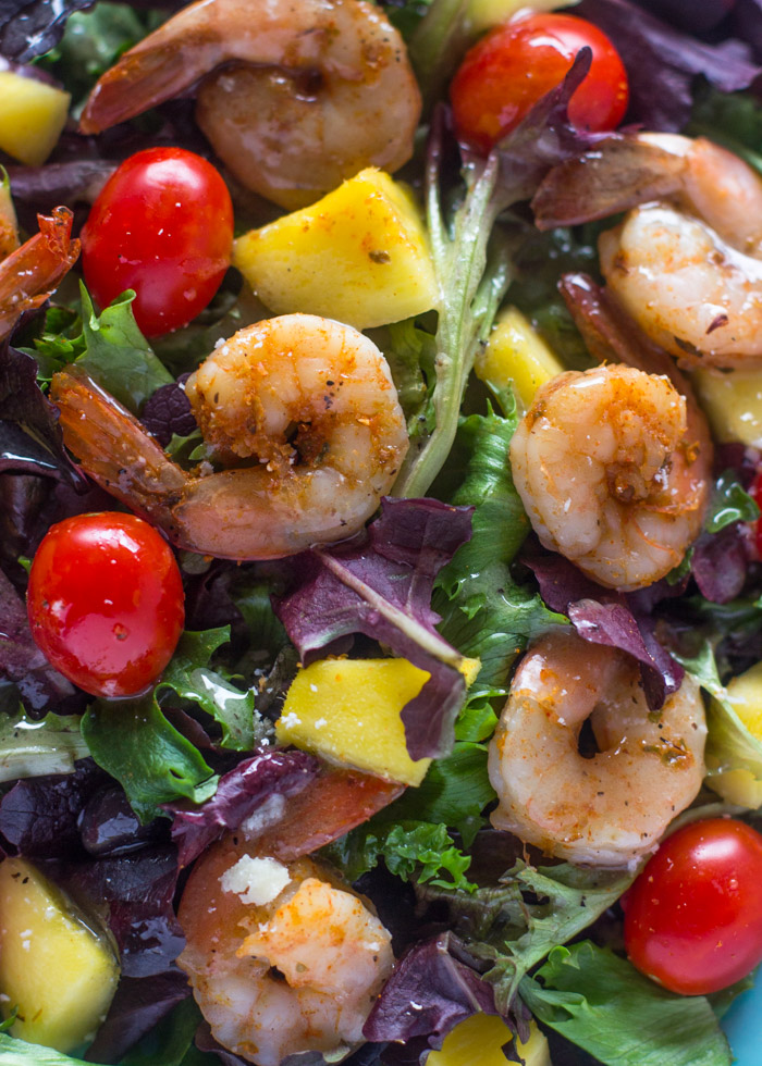 Shrimp Mango Salad with Lime vinaigrette