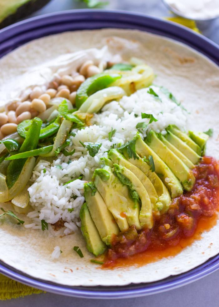 veggie burritos (Quick Veggie and Rice Burritos of 9)