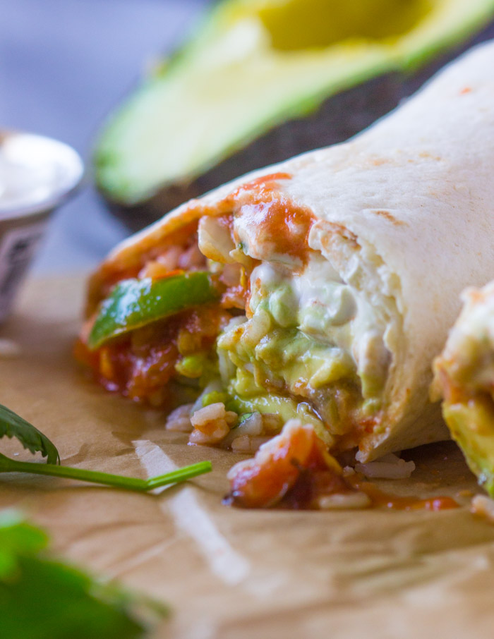 Quick Veggie and Rice Burritos