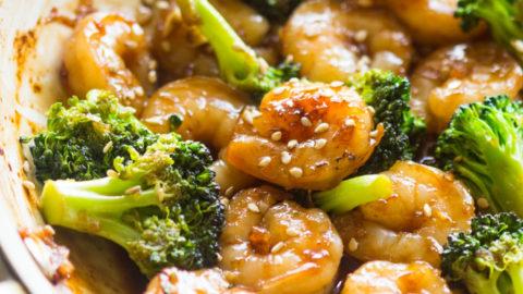 Easy Honey Garlic Shrimp And Broccoli Gimme Delicious