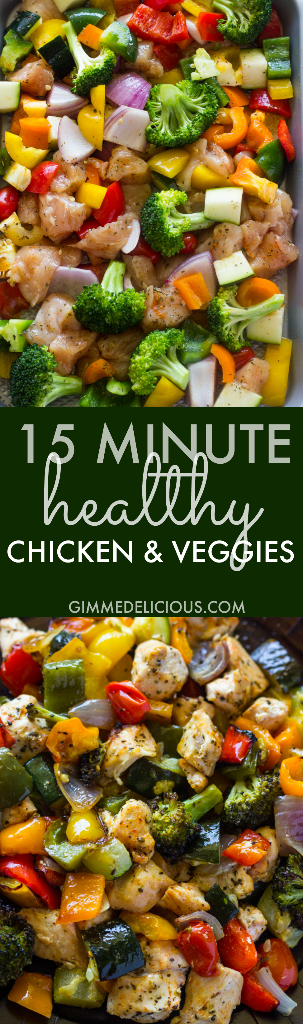 15 minute healthy roasted chicken and veggies video recipe 15 minute healthy roasted chicken and veggies video forumfinder Choice Image