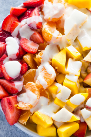 yogurt fruit dip healthy fruit salad recipes easy