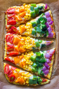rainbow Cauliflower Crust Pizz