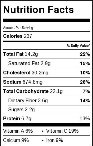 Spicy Shrimp Tacos with Avocado Salsa & Sour Cream Cilantro Sauce Nutrition Facts