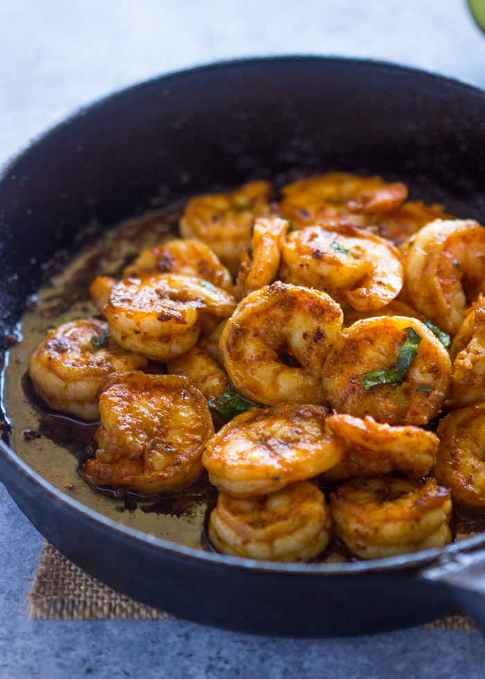 All-Purpose Spicy Shrimp Skillet | Gimme Delicious
