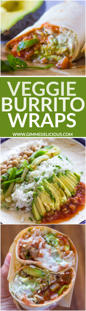 Quick Veggie and Rice Burritos