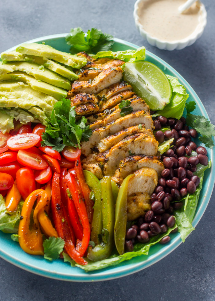 Cilantro Lime chicken Salad with skinny chipotle Ranch Dressing ...