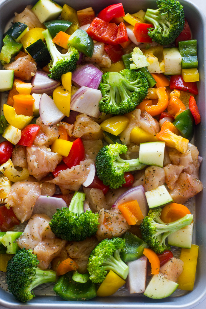 Grilled vegetables and chicken recipes