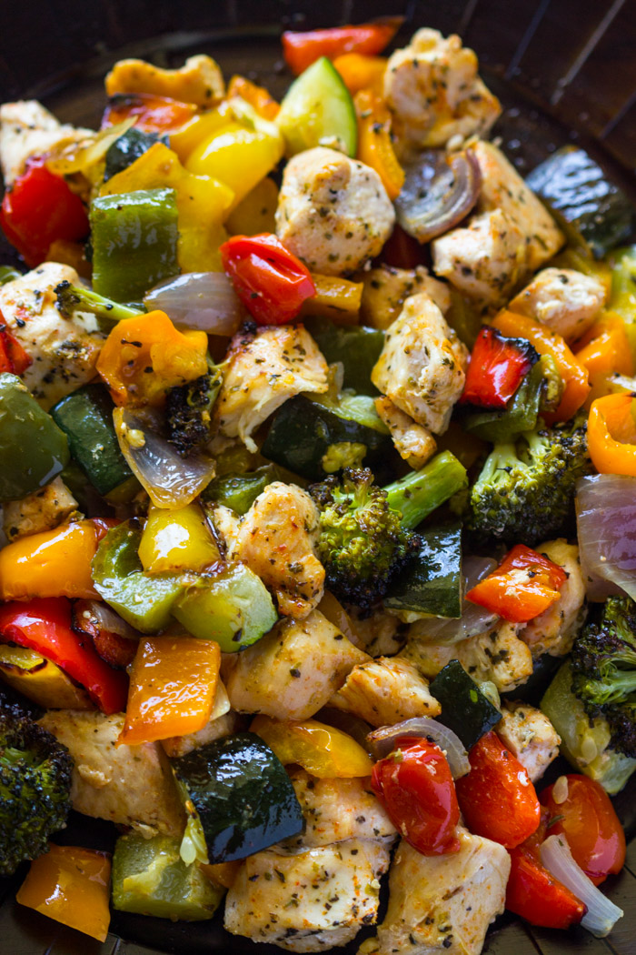 15 Minute Healthy Roasted Chicken And Veggies (Video