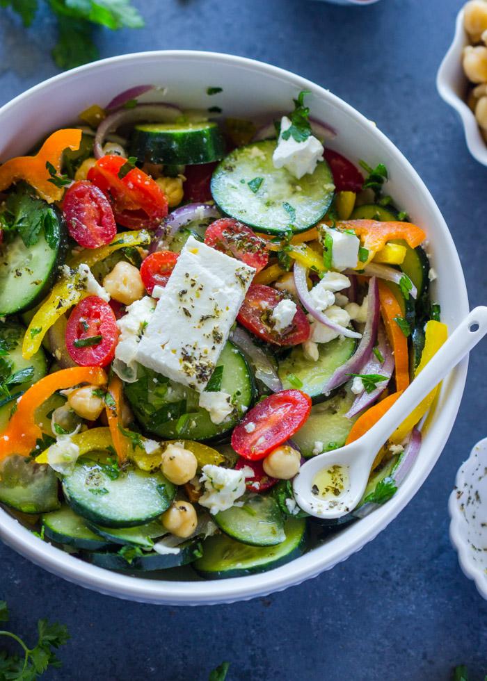Mediterranean Cucumber Chickpea Salad