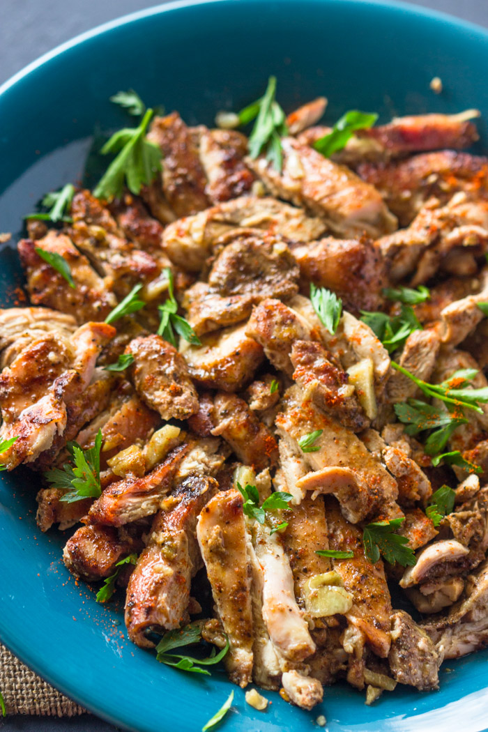 Easy Oven Roasted Chicken Shawarma
