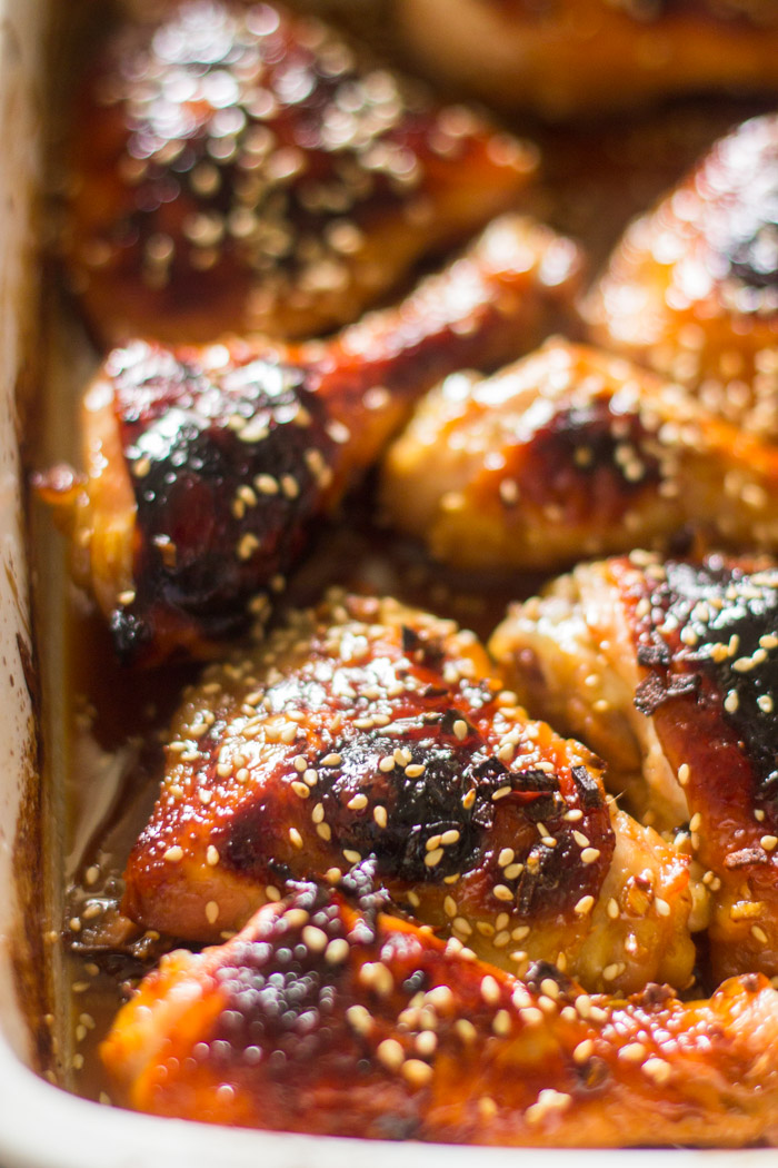 Easy Baked Honey Garlic Chicken | Gimme Delicious