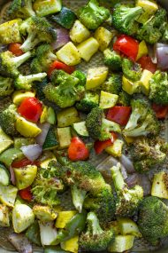 Easy 20 Minute Roasted Veggies