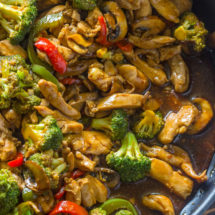 20 Minute Chicken Broccoli & Mushroom Stir-Fry