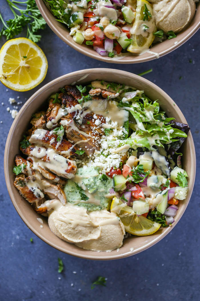 Healthy Chicken Shawarma Bowls