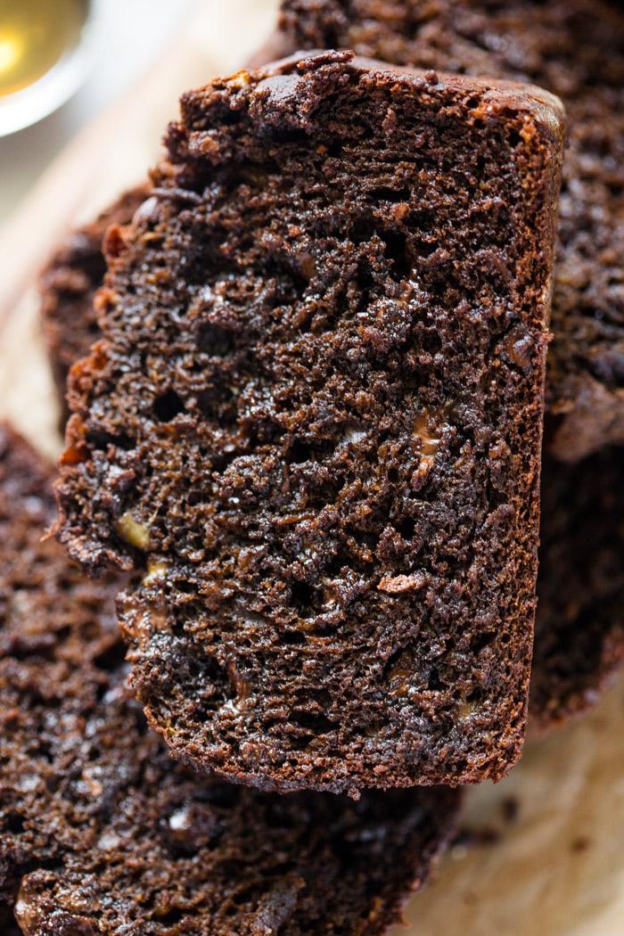 Healthier Chocolate Banana Bread