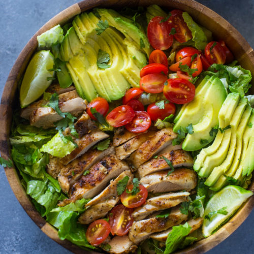 Chicken And Avocado Salad With Skinny Creamy Dressing Gimme Delicious