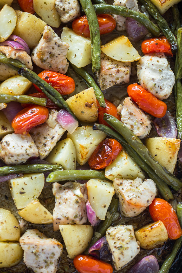 Easy One Pan Roasted Chicken  Potatoes  Gimme Delicious-5209