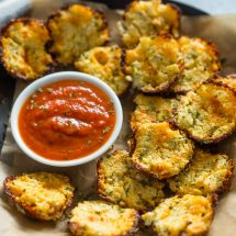 3 Ingredient Baked Cheddar Cauliflower Bites