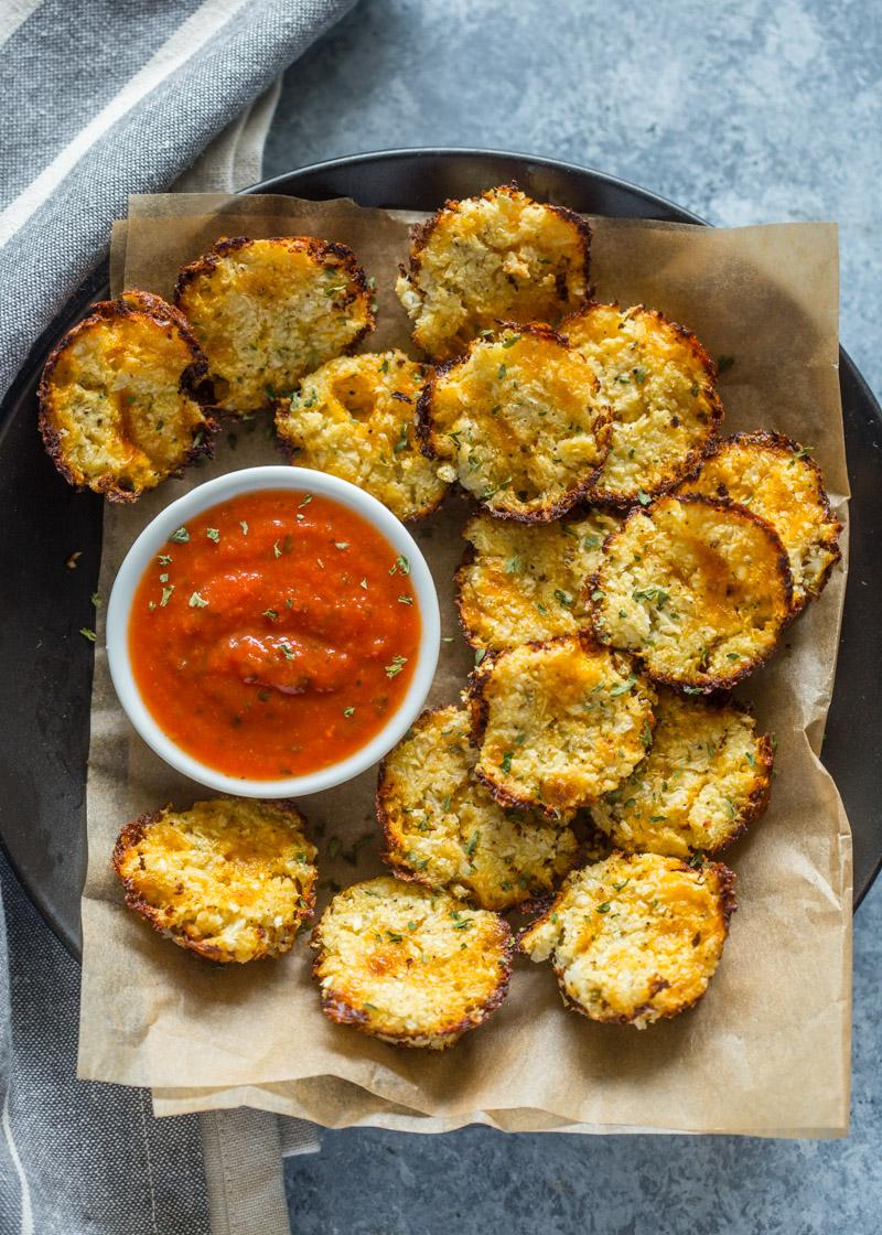 3 Ingredient Baked Cheddar Cauliflower Bites