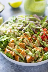 Chopped Chicken Salad with Creamy Avocado Dressing