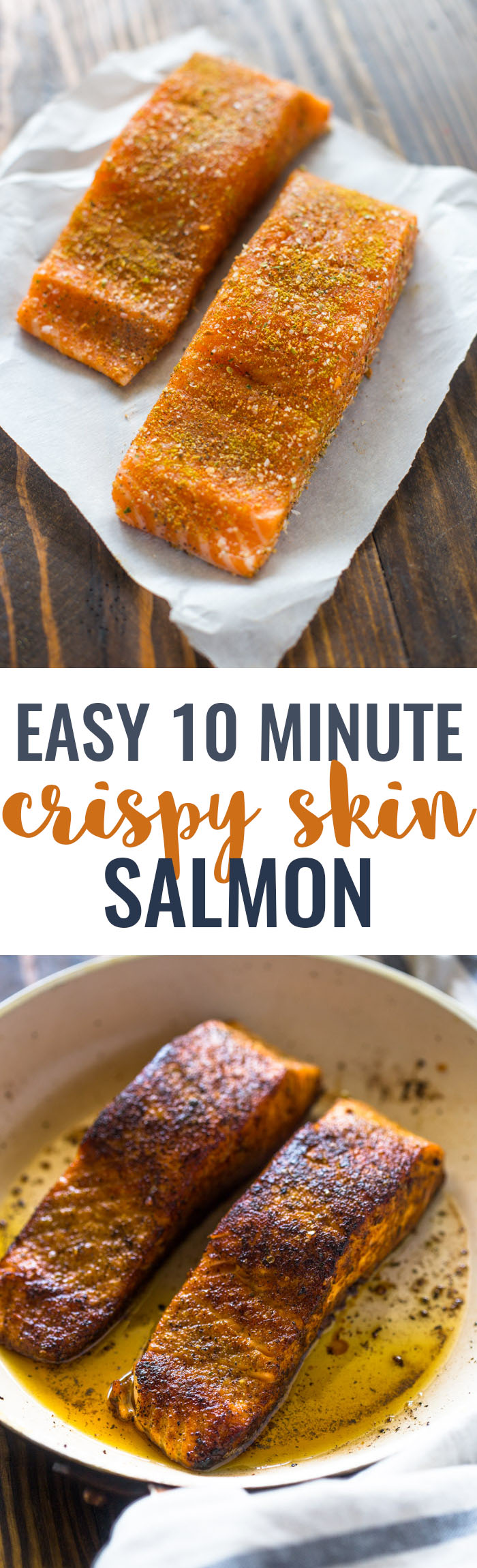 Easy 10 Minute Crispy Skin Salmon