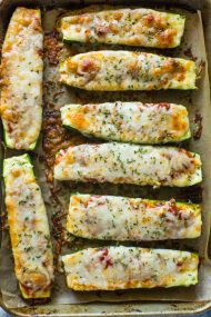 Low-Carb Zucchini Pizza Boats (VIDEO)