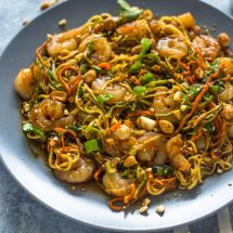 10 Minute Shrimp Zoodle Pad Thai