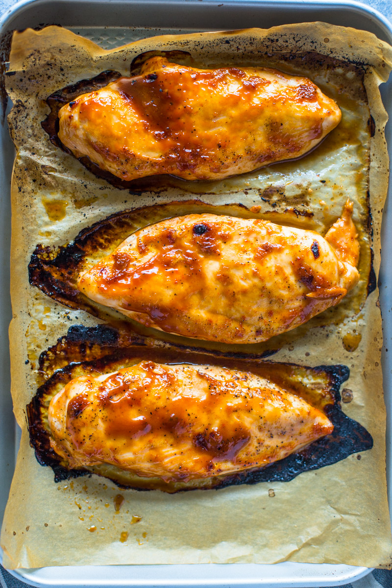 Easy 3 Ingrident BBQ Ranch Chicken