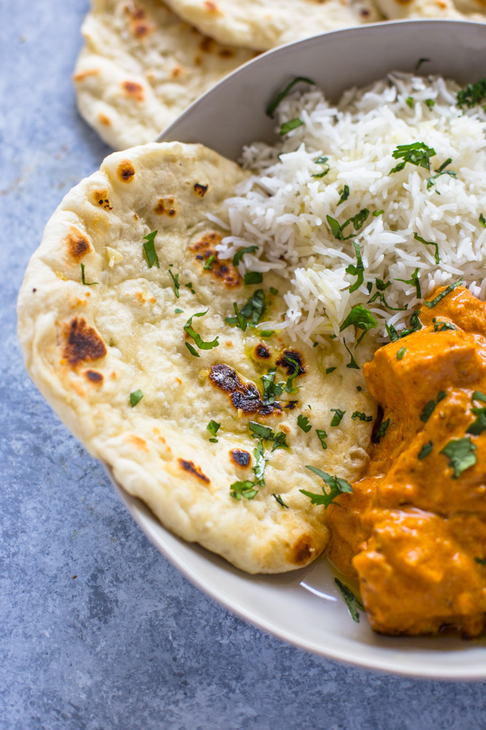 Easy Chicken Tikka Masala with Stove-Top Garlic Naan ...