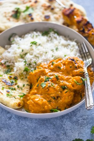 Easy Chicken Tikka Masala with Stove-top Naan