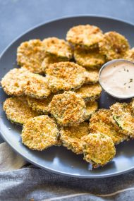 Crispy Baked Zucchini Chips