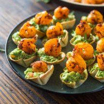 Skinny Mini Shrimp & Guacamole bites