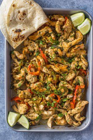 Sheet Pan Roasted Cilantro Lime Chicken