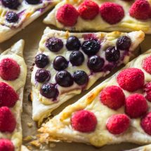 Easy 3 Ingredient Berry and Cheese Pastries (Video)