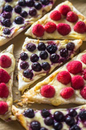 Easy 3 Ingredient Fruit & Cream Cheese Pastries