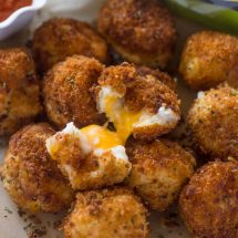 Cheese Stuffed Bacon Mashed Potato Balls + Giveaway!