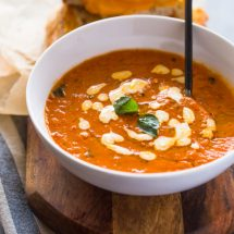 Easy Roasted Tomato Basil Soup